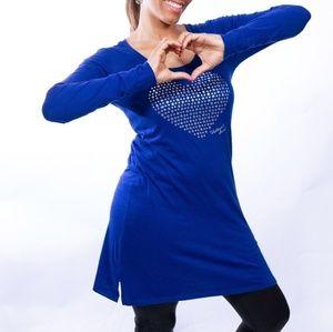 Victoria's secret sequins heart night gown, size S